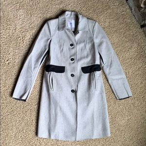 Zara wool blend coat with fun details!